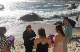 Marriage Officer Symi officiates a beach wedding