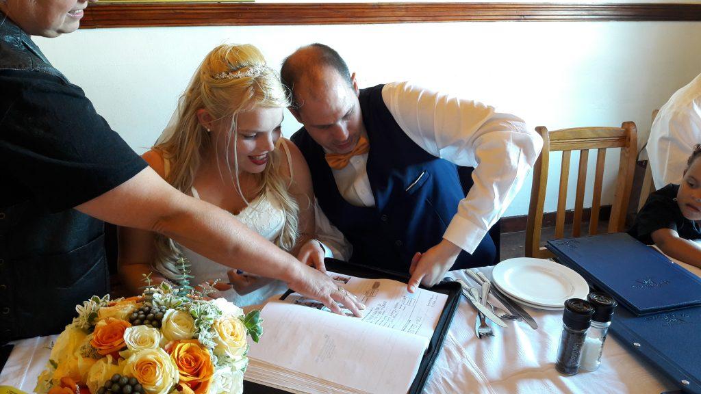 Fingerprints with Marriage Officer Symi