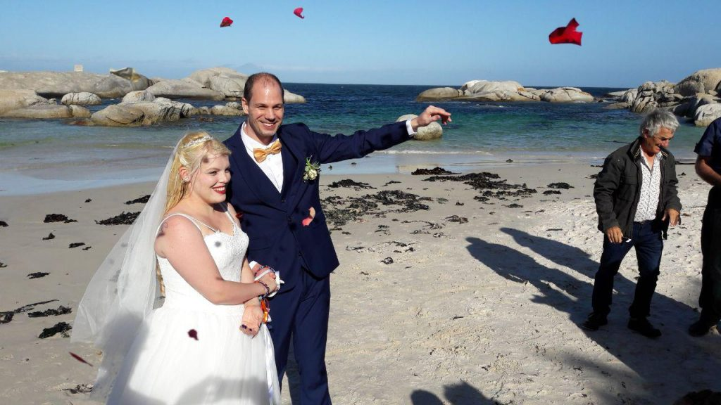Flying Rose Petals with Tie the Knot, Cape Town